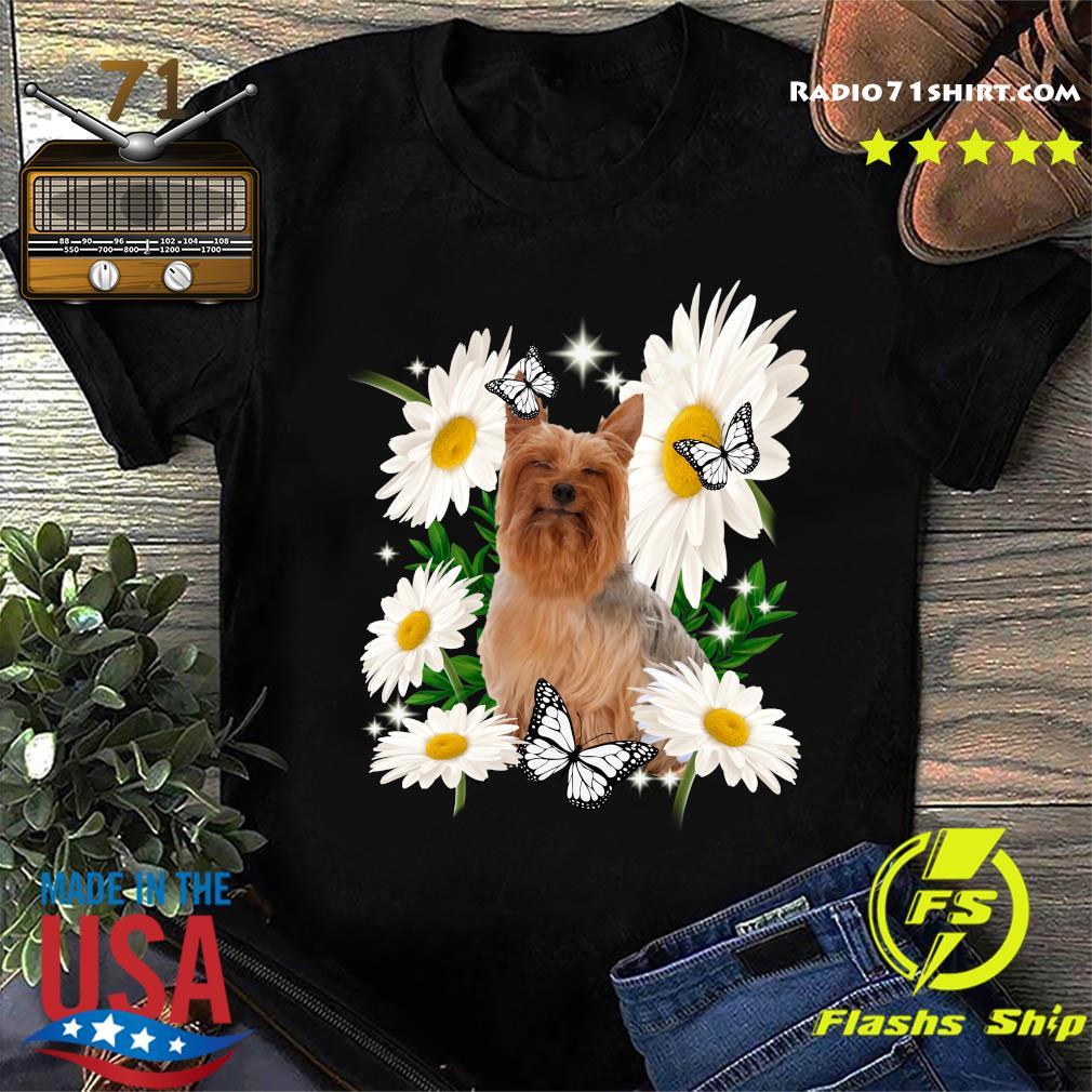 Silky Terrier Daisy flower Classic T-Shirt