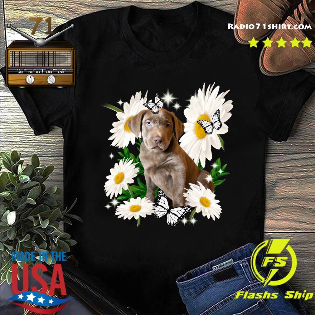 Silver Labrador Retriever Daisy flower Classic T-Shirt