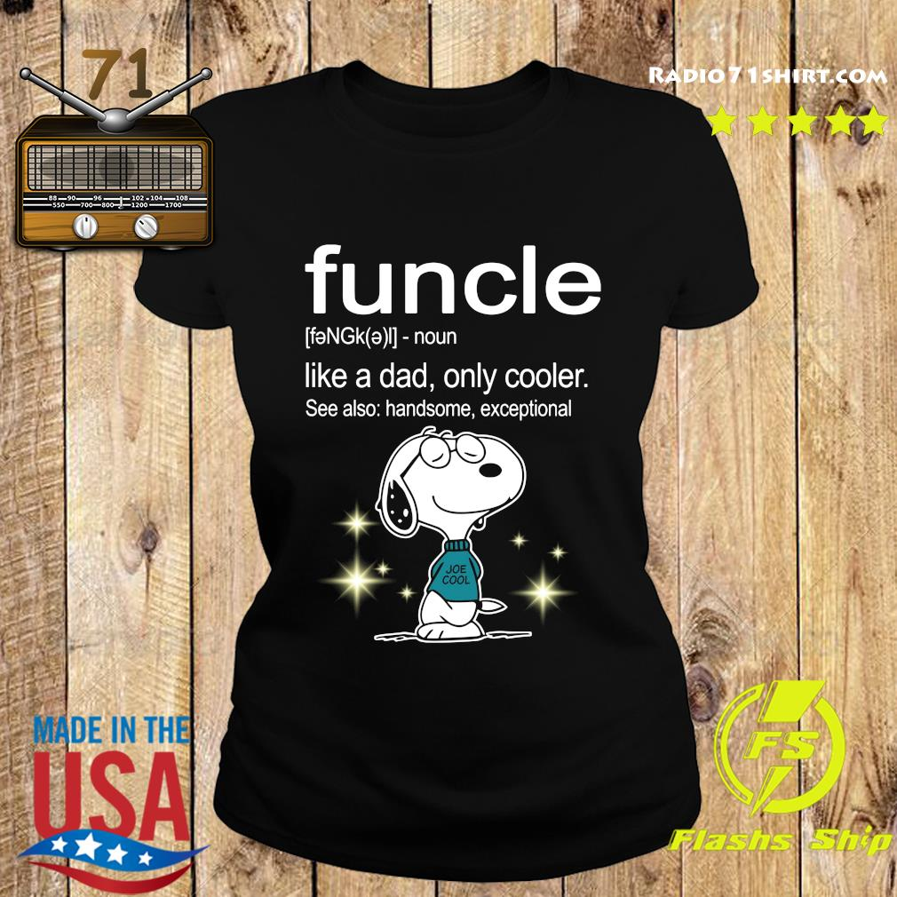 Snoopy Funcle Definition Shirt Ladies tee