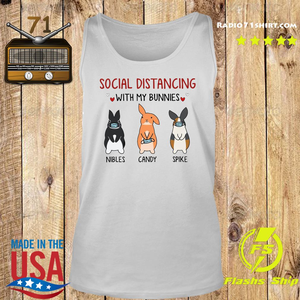 Social Distancing With My Bunnies Nibles Candy Spike Shirt Tank top