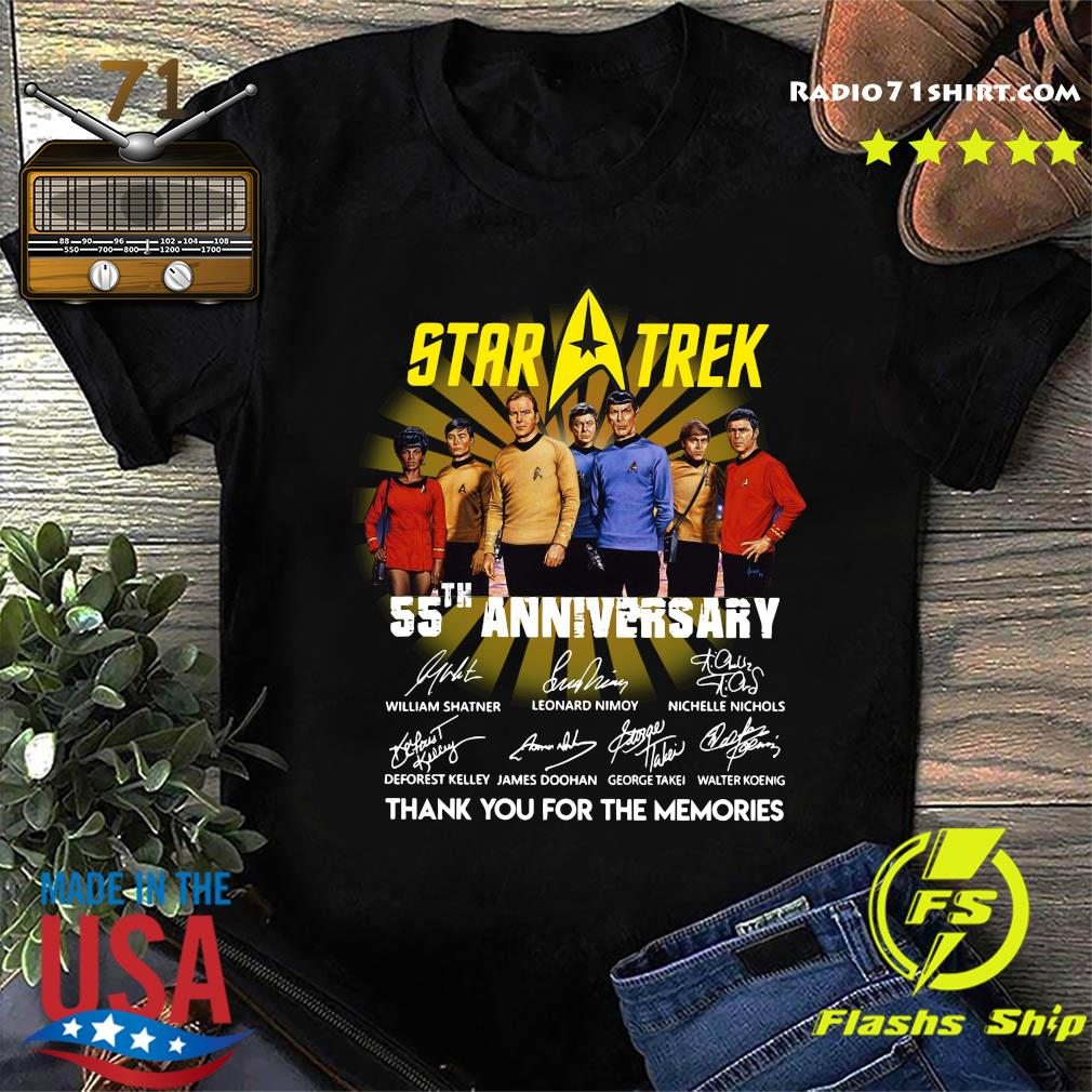 Star Trek 55th Anniversary Thank You For The Memories Signatures Shirt