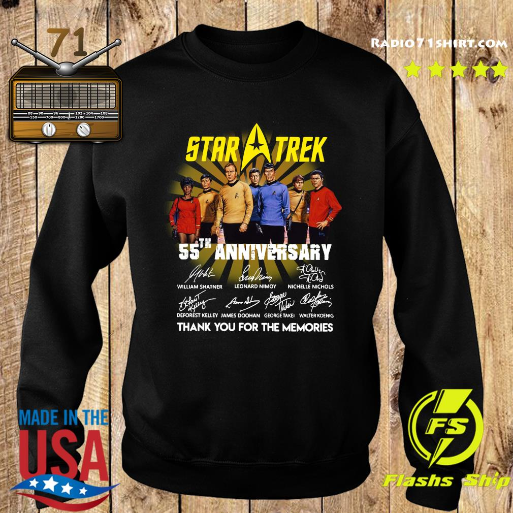 Star Trek 55th Anniversary Thank You For The Memories Signatures Shirt Sweater