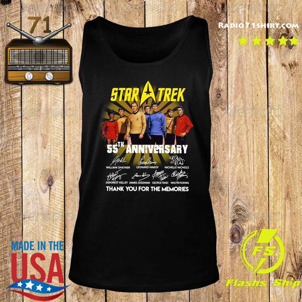 Star Trek 55th Anniversary Thank You For The Memories Signatures Shirt Tank top