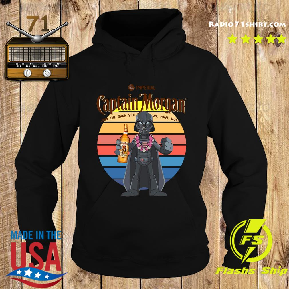 Star Wars Imperial Captain Morgan Join The Dark Side We Have Rum Vintage Shirt Hoodie