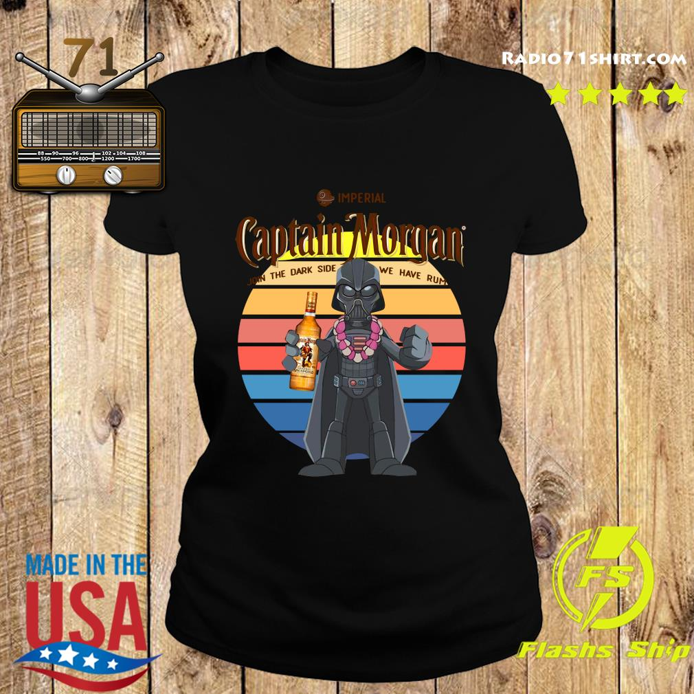 Star Wars Imperial Captain Morgan Join The Dark Side We Have Rum Vintage Shirt Ladies tee
