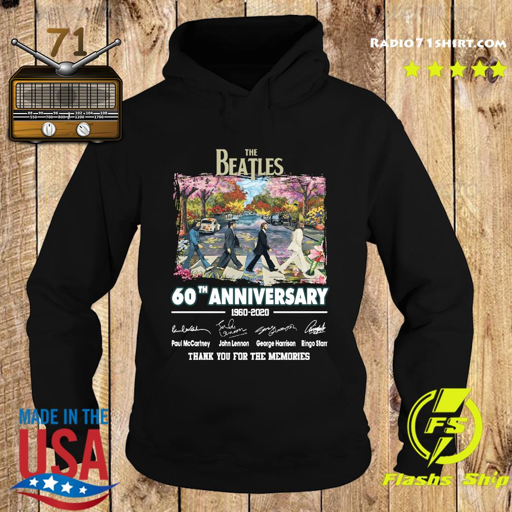 The Beatles 60th Anniversary 1960 2020 Thank You For The Memories Signatures Shirt Hoodie