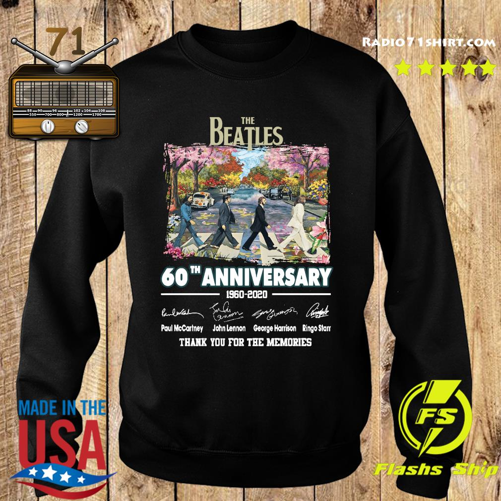 The Beatles 60th Anniversary 1960 2020 Thank You For The Memories Signatures Shirt Sweater