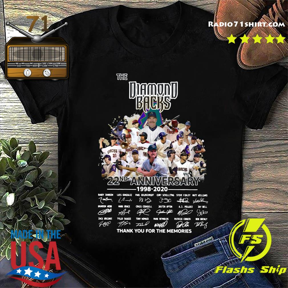 The Diamond Backs 22nd Anniversary 1998 2020 Thank You For The Memories Signatures Shirt
