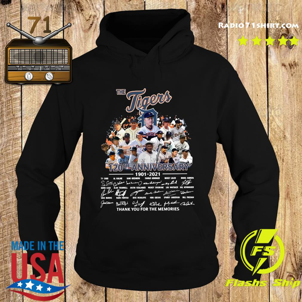 The Tigers 120th Anniversary 1901 2021 Thank You For The Memories Signatures Shirt Hoodie