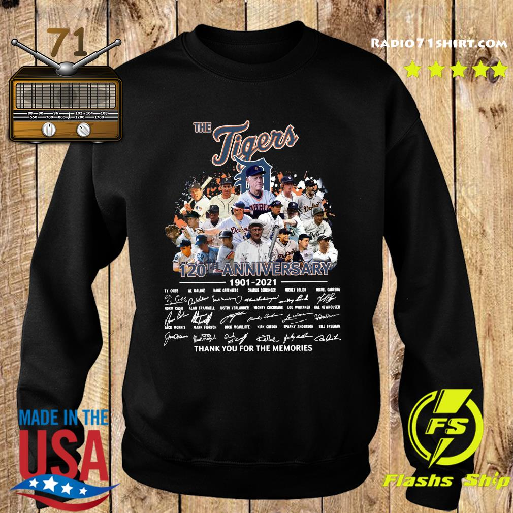 The Tigers 120th Anniversary 1901 2021 Thank You For The Memories Signatures Shirt Sweater