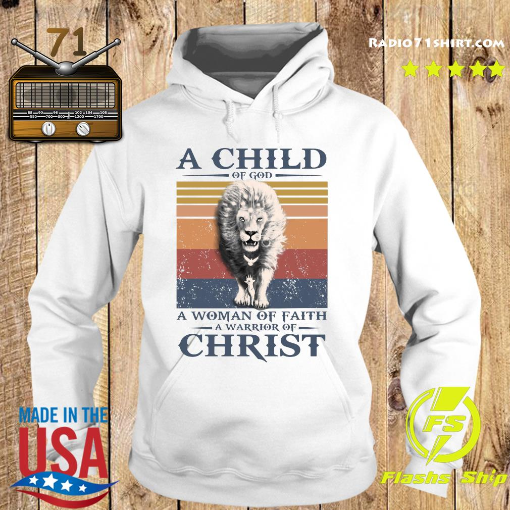 Tiger A Child Of God A Woman Of Faith A Warrior Of Christ Vintage Shirt Hoodie