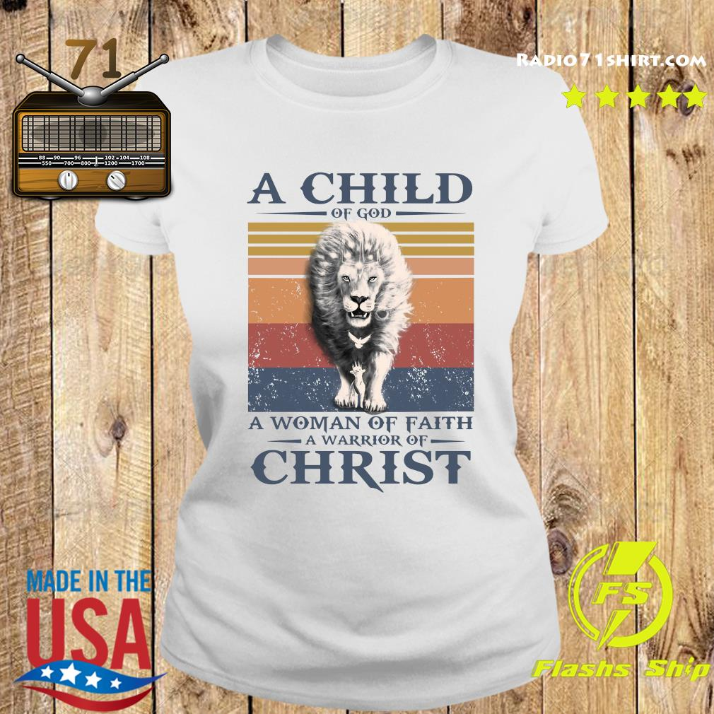 Tiger A Child Of God A Woman Of Faith A Warrior Of Christ Vintage Shirt Ladies tee