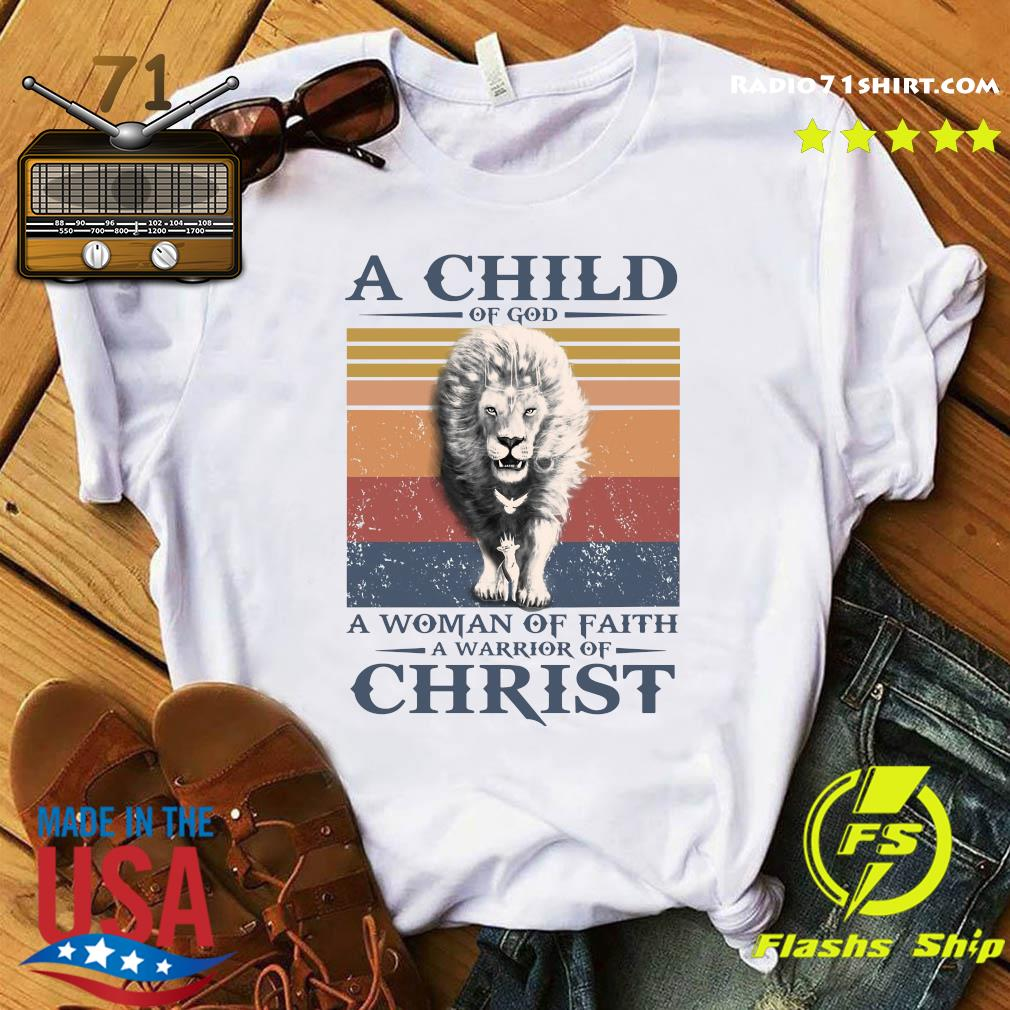 Tiger A Child Of God A Woman Of Faith A Warrior Of Christ Vintage Shirt