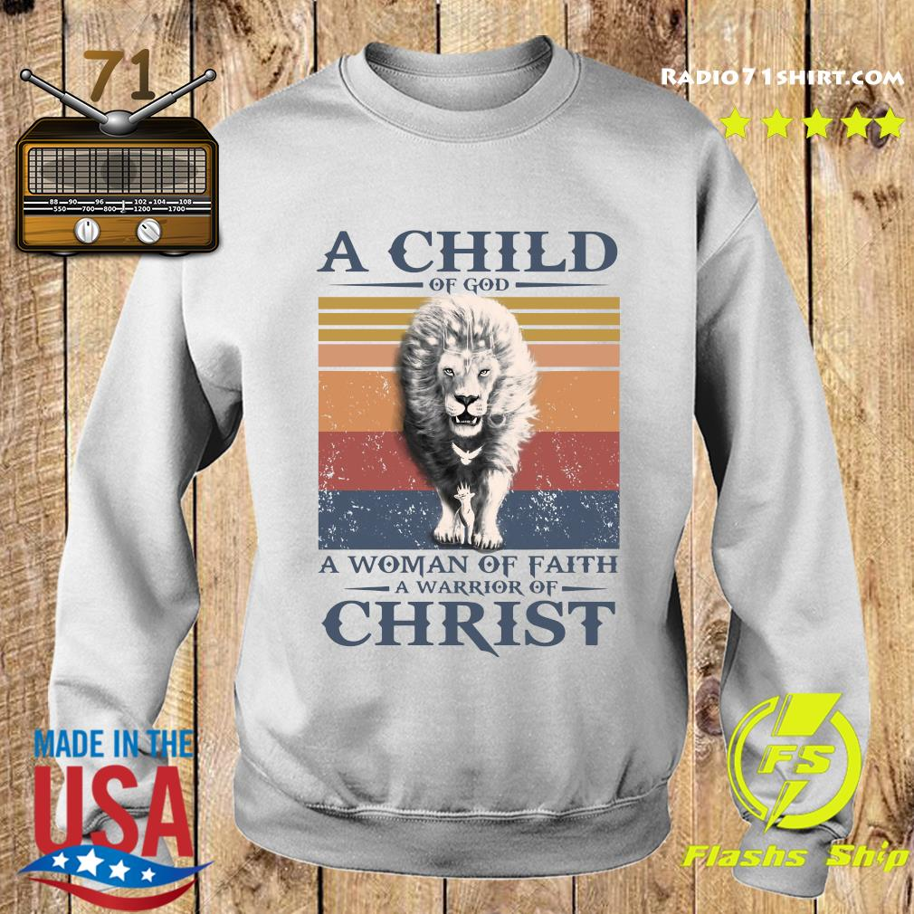 Tiger A Child Of God A Woman Of Faith A Warrior Of Christ Vintage Shirt Sweater