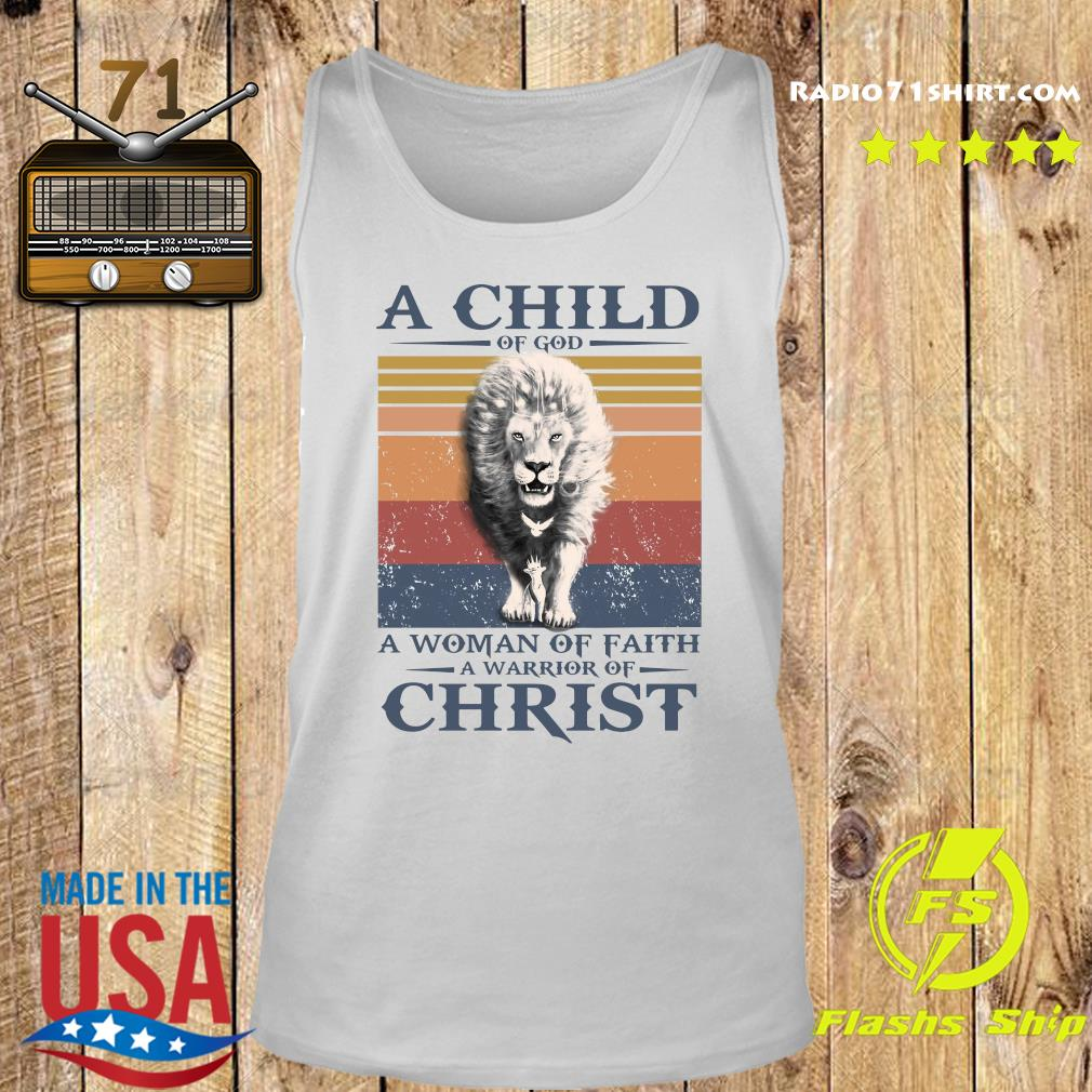 Tiger A Child Of God A Woman Of Faith A Warrior Of Christ Vintage Shirt Tank top