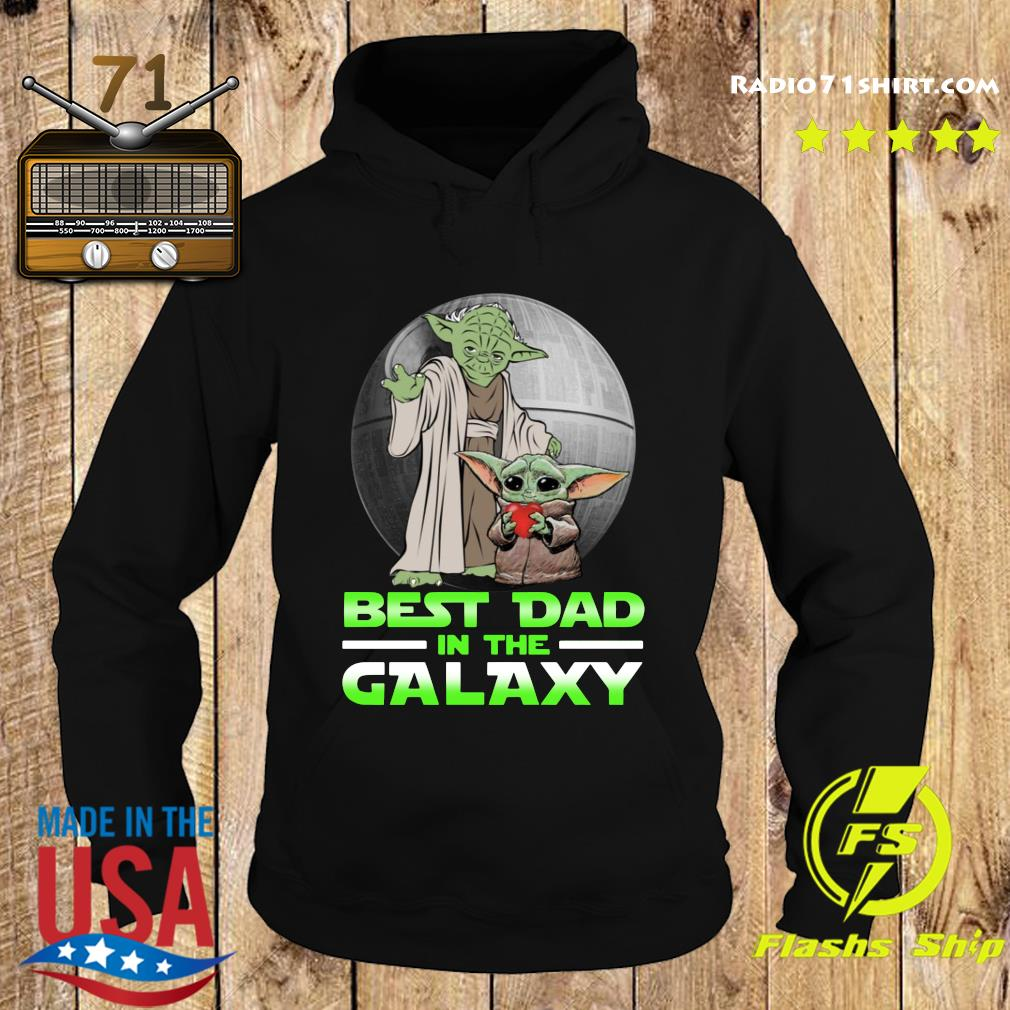 Top Master Yoda And Baby Yoda Best Dad In The Galaxy Shirt Hoodie