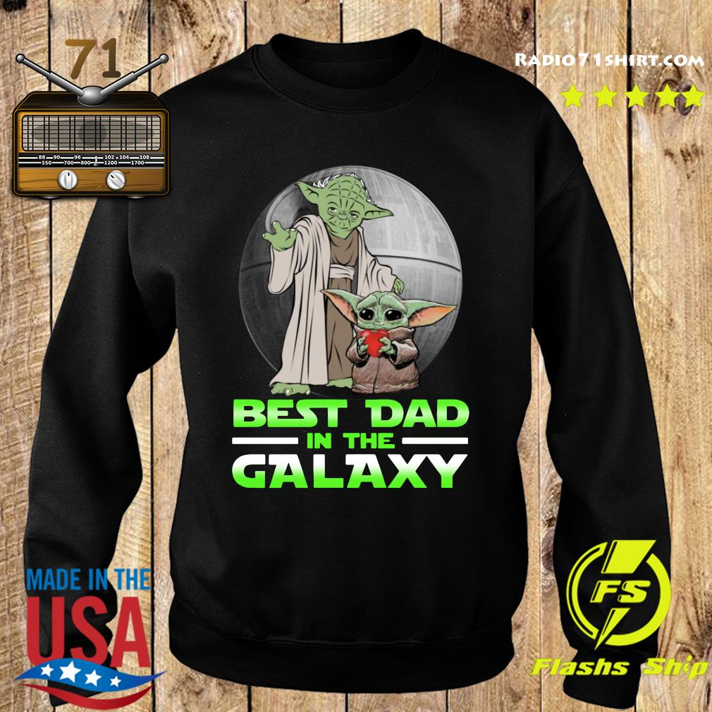 Top Master Yoda And Baby Yoda Best Dad In The Galaxy Shirt Sweater