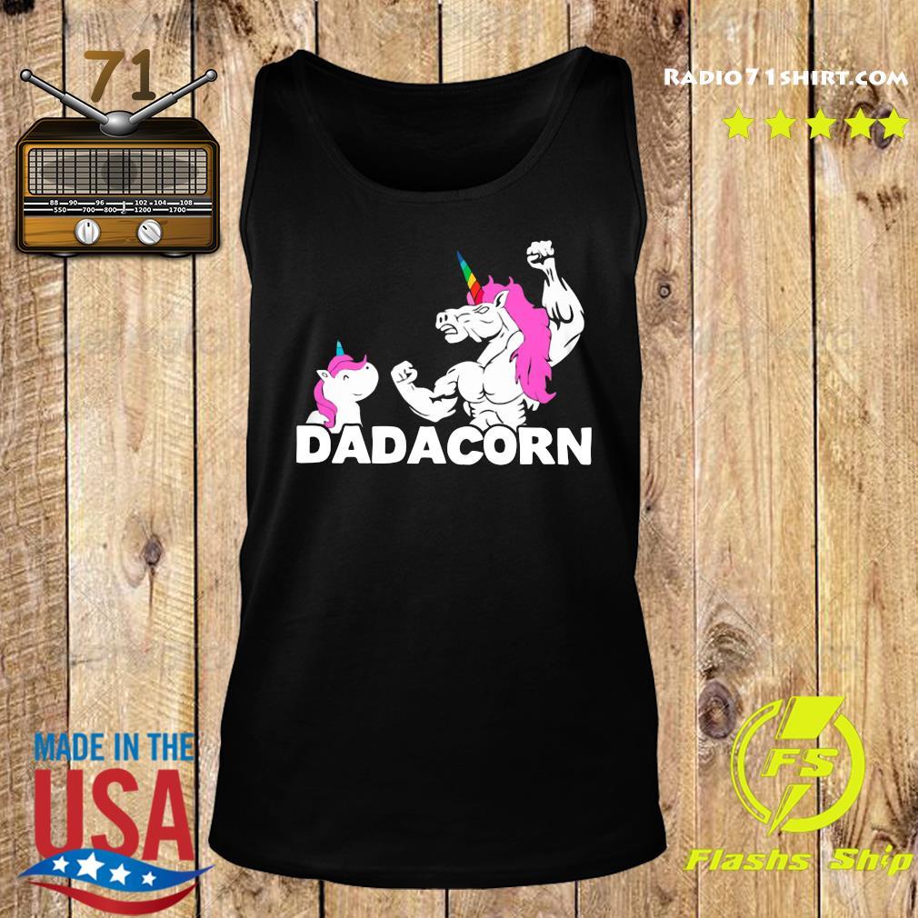 Unicorn Dadacorn Dad Father's Day Shirt Tank top