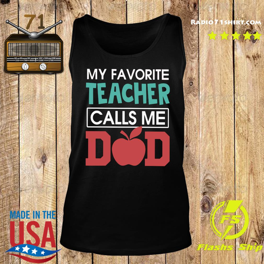 Vintage My Favorite Teacher Calls Me Dad Father's Day Gift Premium T-Shirt Tank top