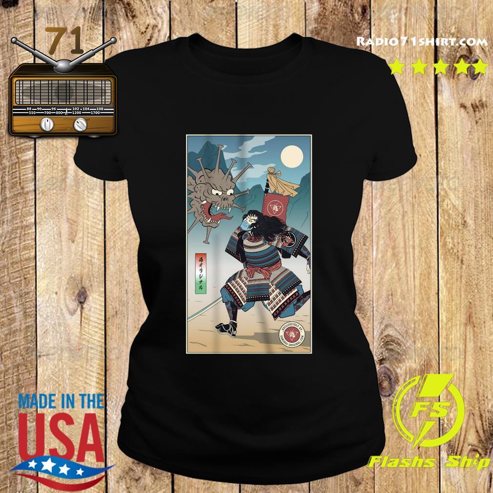 Vintage Samurai Vs Virus Demon No 3 Shirt Ladies tee