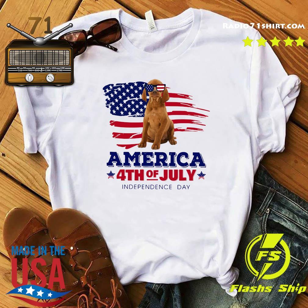 Vizsla America 4th Of July Independence Day Shirt