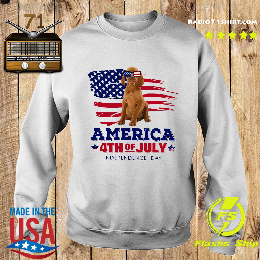 Vizsla America 4th Of July Independence Day Shirt Sweater