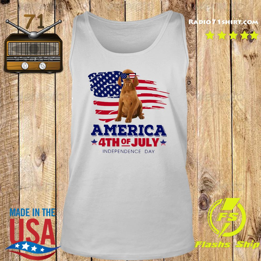 Vizsla America 4th Of July Independence Day Shirt Tank top