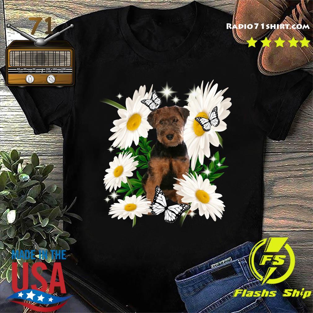 Welsh Terrier Daisy flower Classic T-Shirt