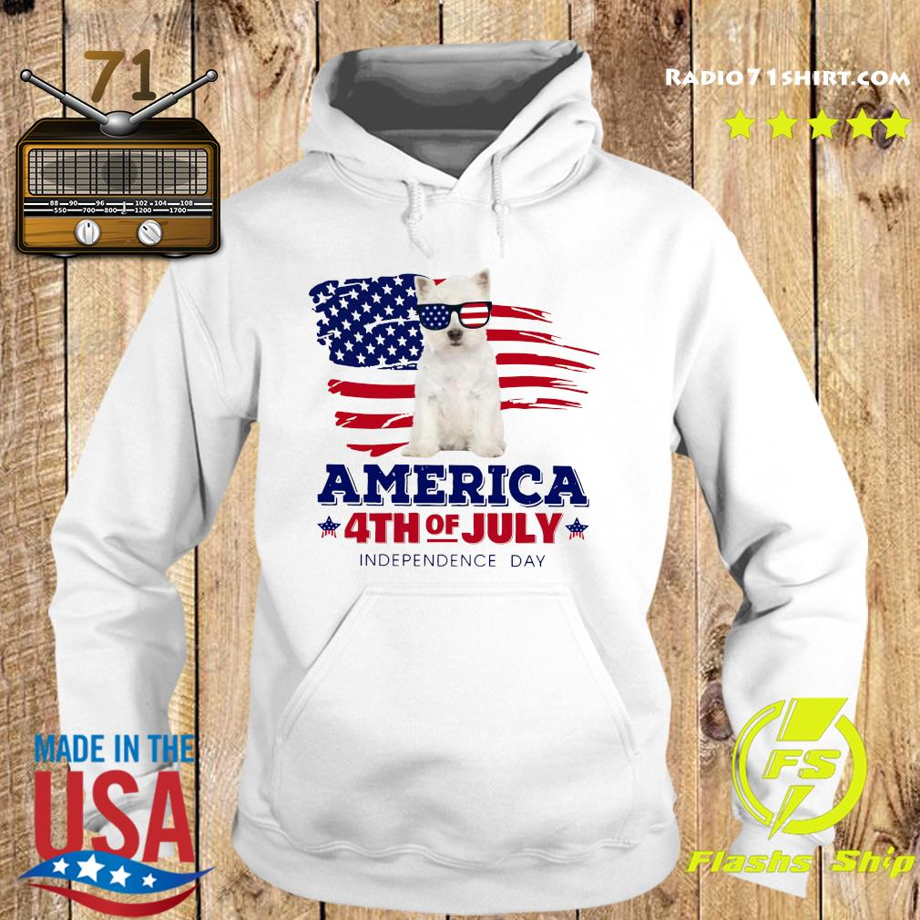 West Highland White Terrier America 4th Of July Independence Day Shirt Hoodie