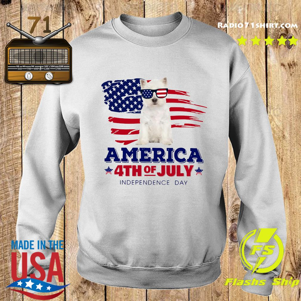 West Highland White Terrier America 4th Of July Independence Day Shirt Sweater