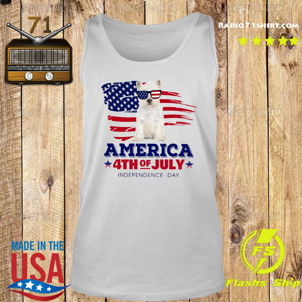 West Highland White Terrier America 4th Of July Independence Day Shirt Tank top