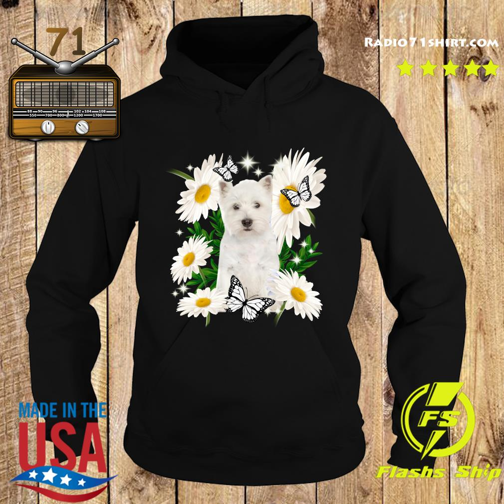 West Highland White Terrier Daisy flower Classic T-Shirt Hoodie