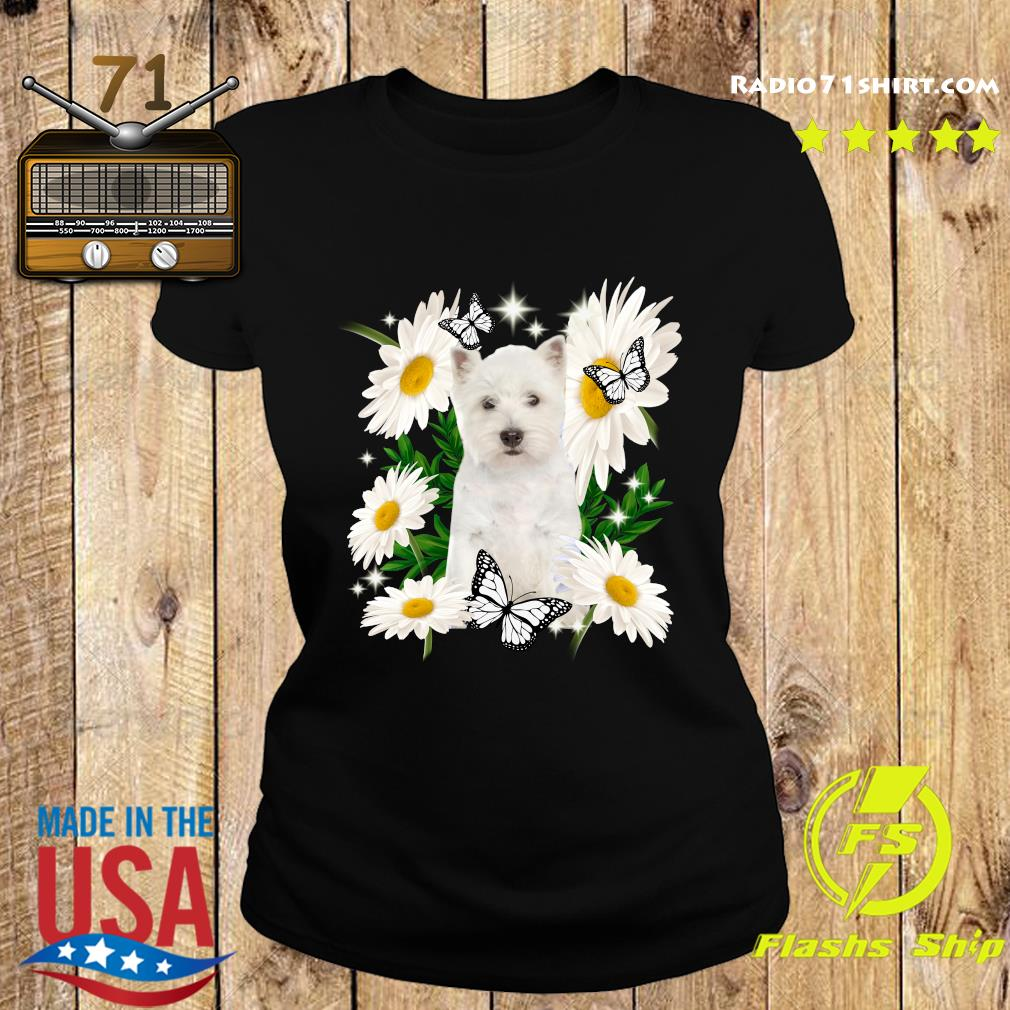 West Highland White Terrier Daisy flower Classic T-Shirt Ladies tee