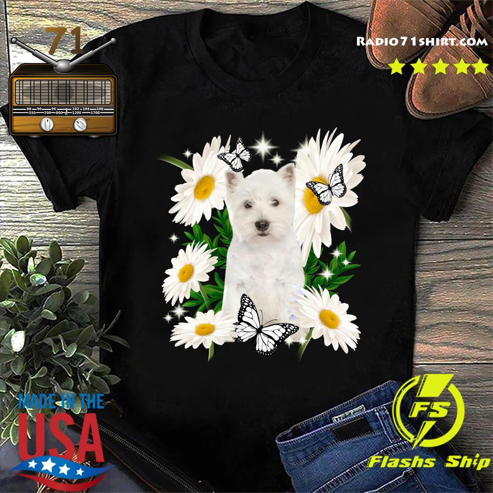 West Highland White Terrier Daisy flower Classic T-Shirt