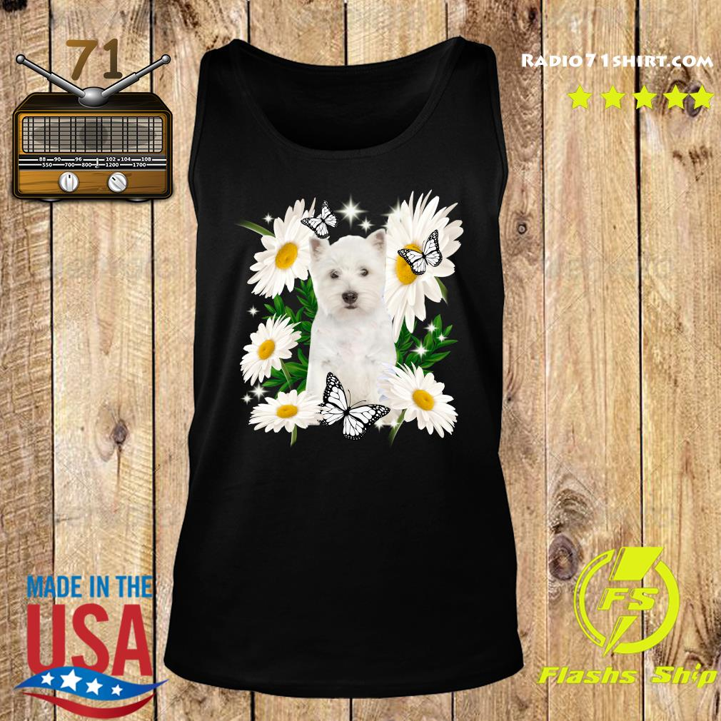 West Highland White Terrier Daisy flower Classic T-Shirt Tank top