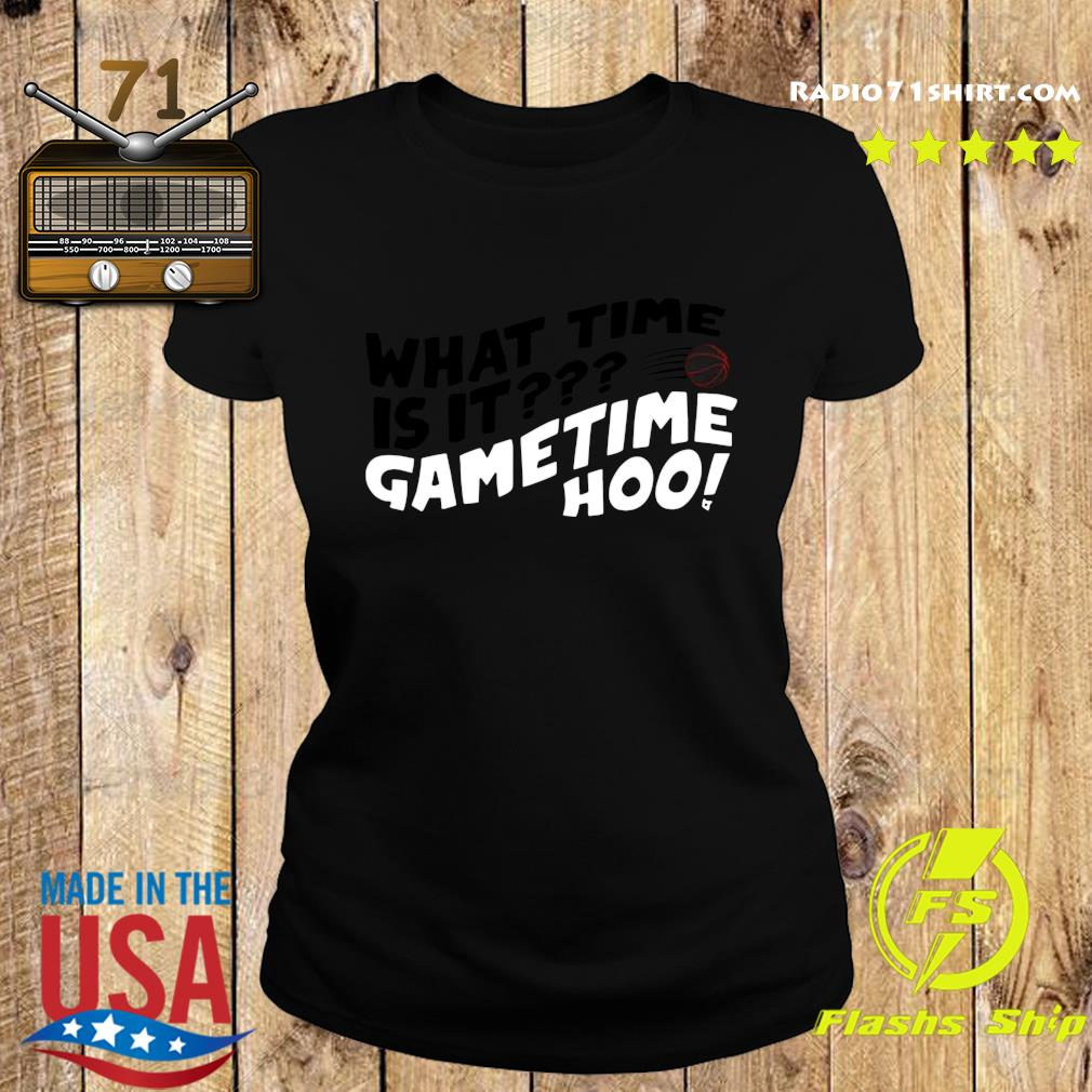 What Time Is It Game Time Hoo Shirt Ladies tee
