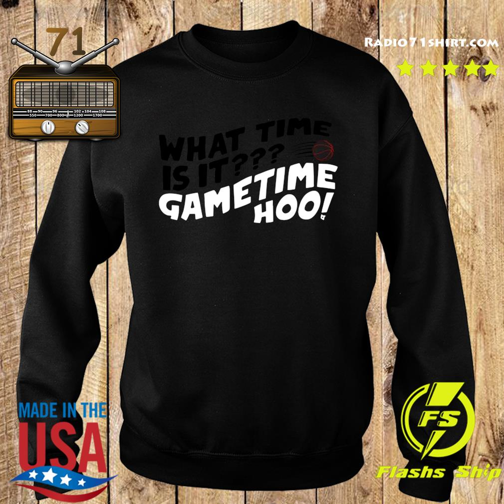 What Time Is It Game Time Hoo Shirt Sweater