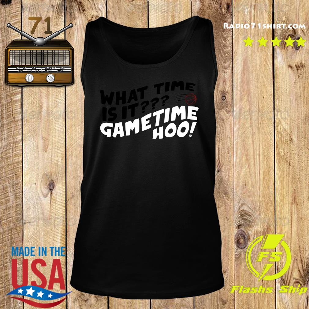 What Time Is It Game Time Hoo Shirt Tank top