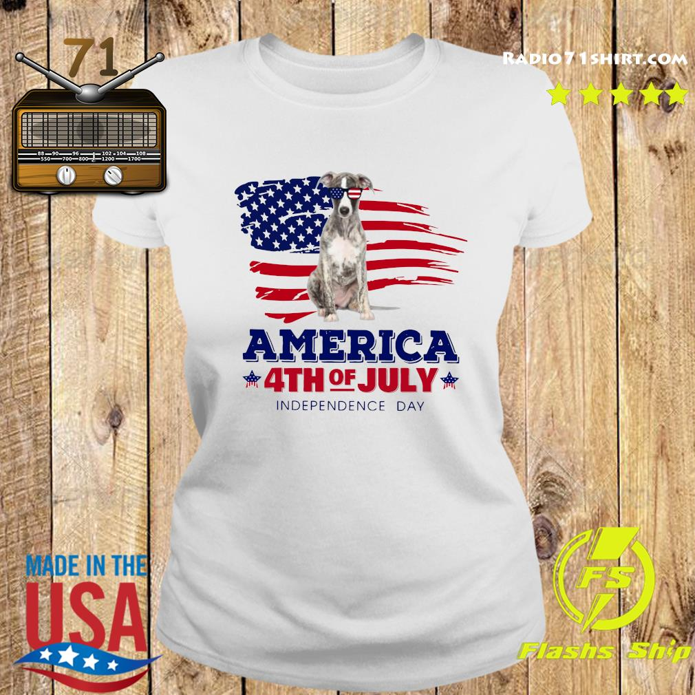 Whippet America 4th Of July Independence Day Shirt Ladies tee