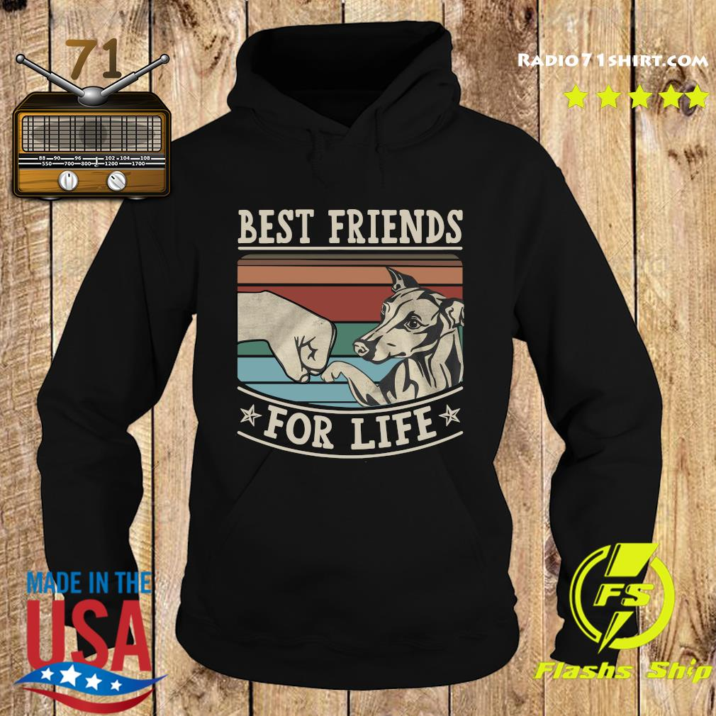 Whippet Best Friends For Life Vintage Shirt Hoodie
