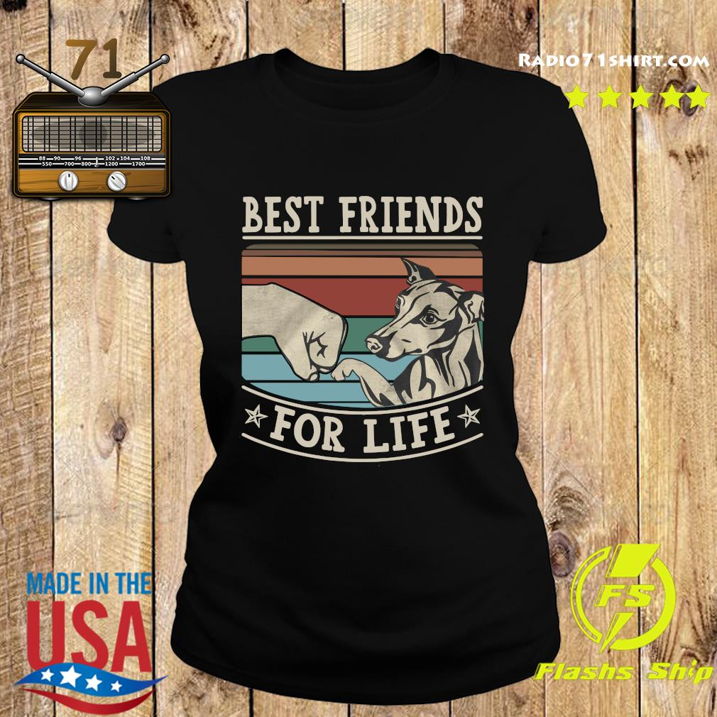 Whippet Best Friends For Life Vintage Shirt Ladies tee