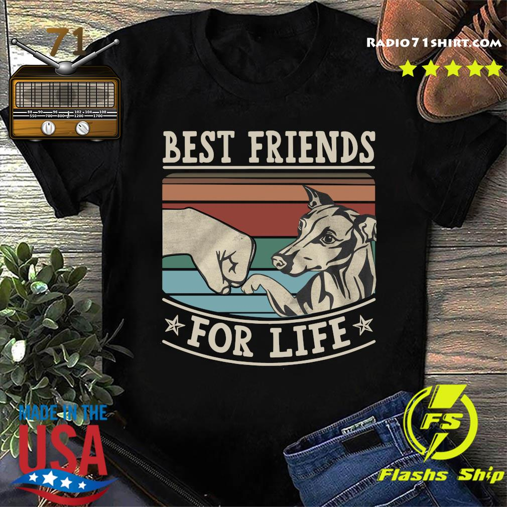 Whippet Best Friends For Life Vintage Shirt