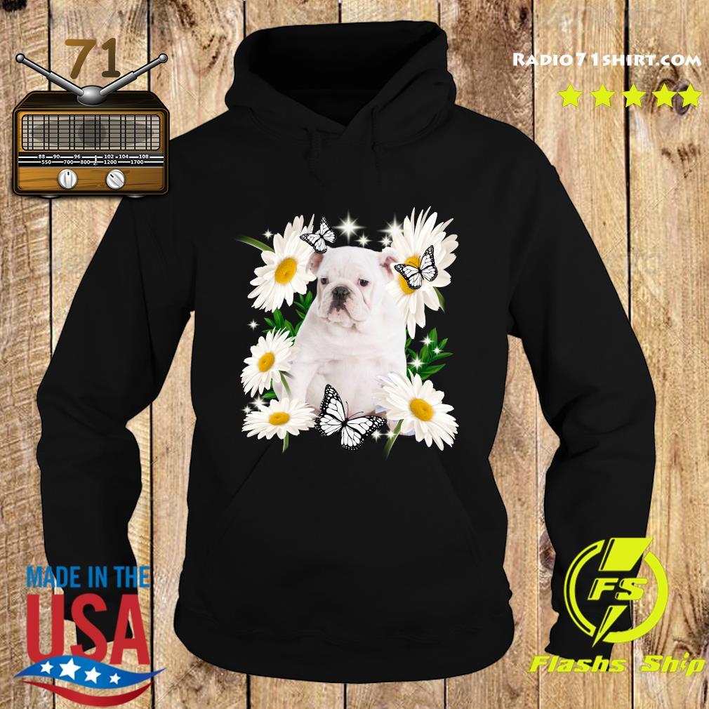 White English Bulldog Daisy flower Classic T-Shirt Hoodie