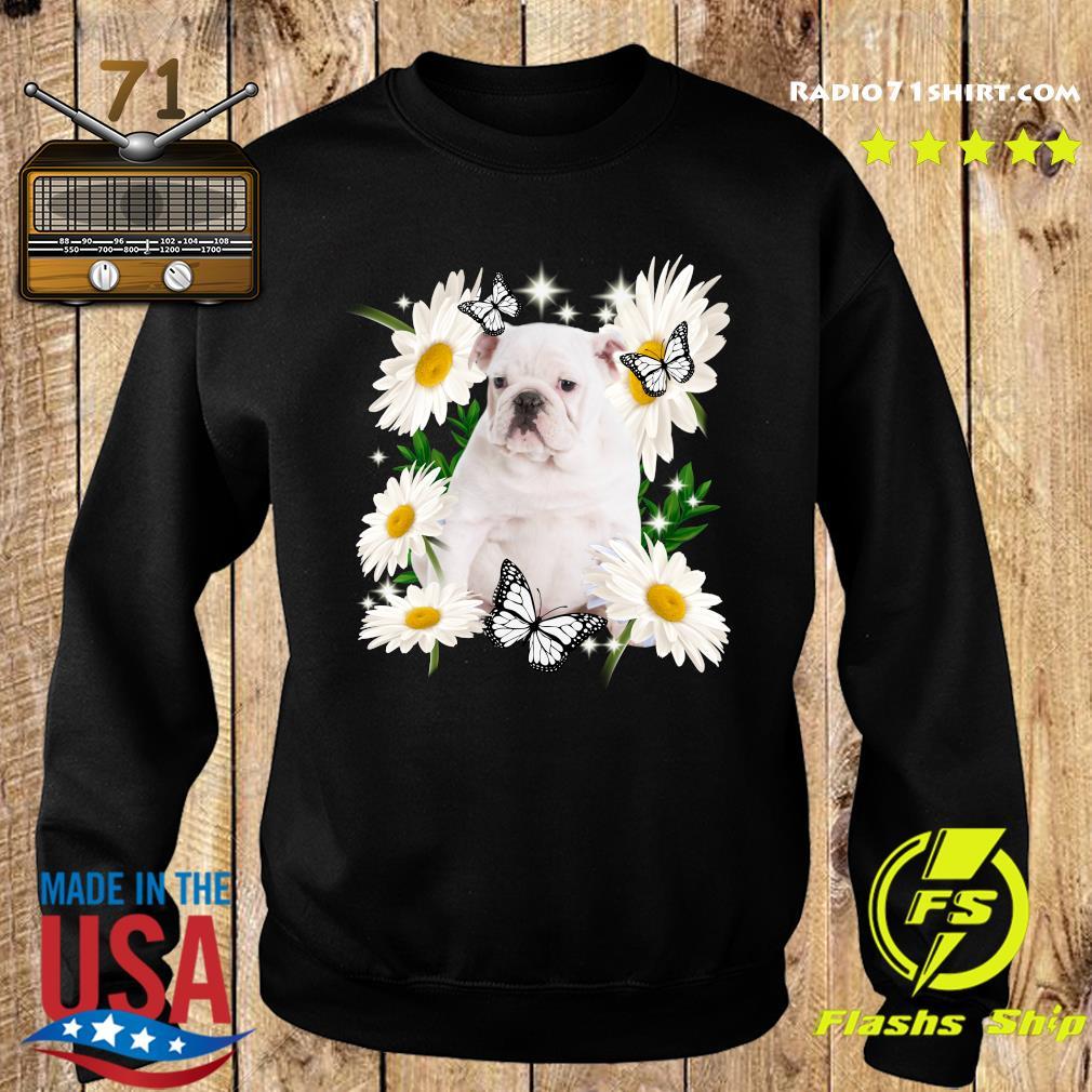 White English Bulldog Daisy flower Classic T-Shirt Sweater