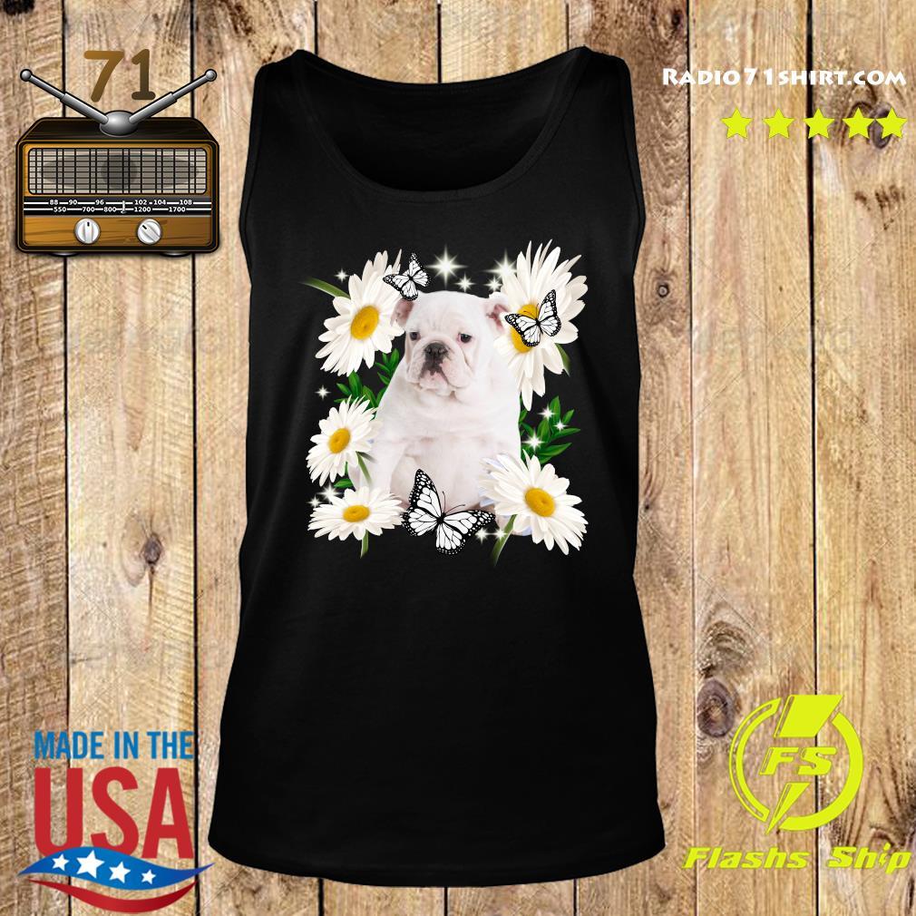 White English Bulldog Daisy flower Classic T-Shirt Tank top
