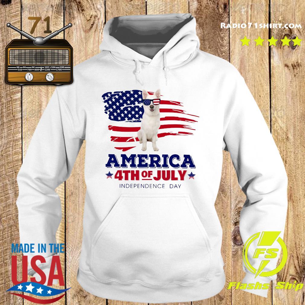 White German Shepherd America 4th Of July Independence Day Shirt Hoodie
