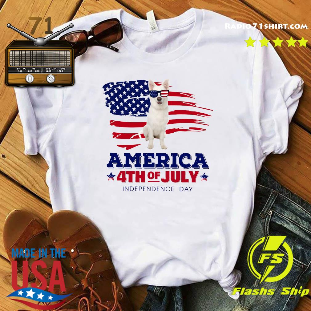 White German Shepherd America 4th Of July Independence Day Shirt