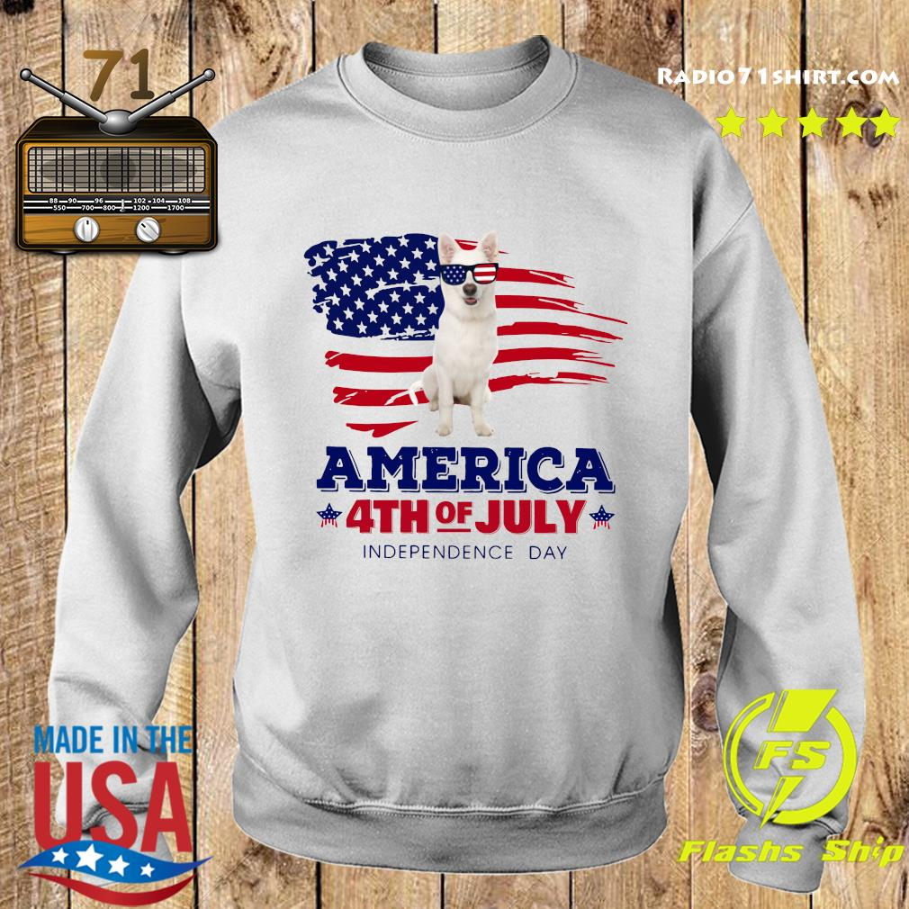 White German Shepherd America 4th Of July Independence Day Shirt Sweater