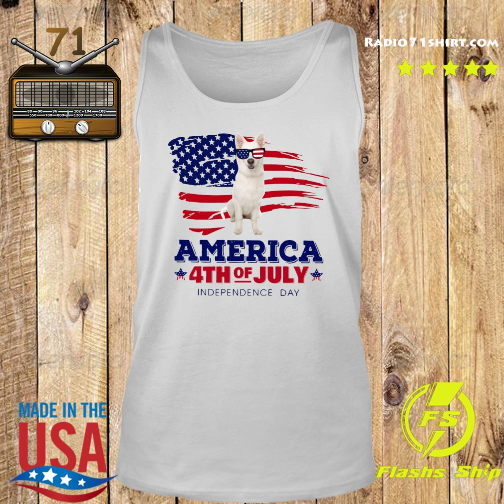 White German Shepherd America 4th Of July Independence Day Shirt Tank top