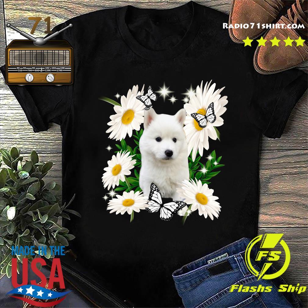 White Husky Daisy flower Classic T-Shirt